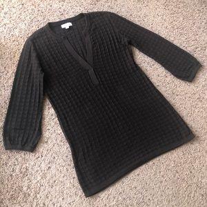 Calvin Klein black tunic top, size small